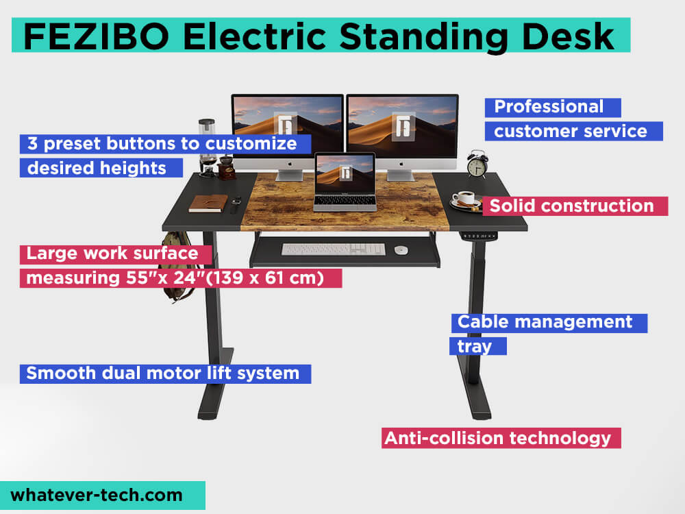 FEZIBOElectric Standing Desk Review, Pros and Cons