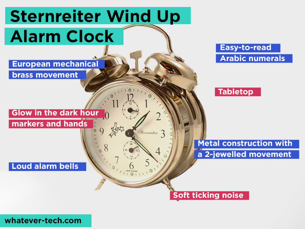 Sternreiter Wind Up Alarm Clock Review, Pros and Cons