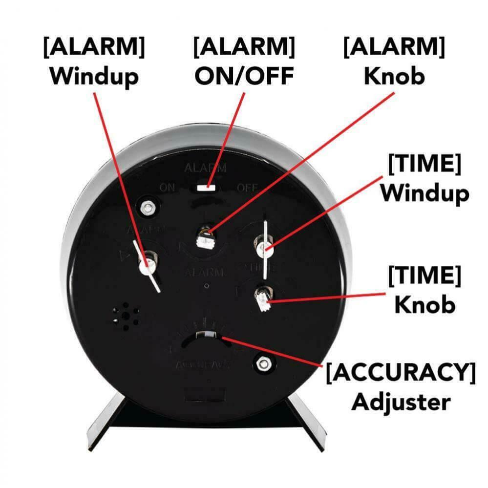 Wind Up Alarm Clock Back side