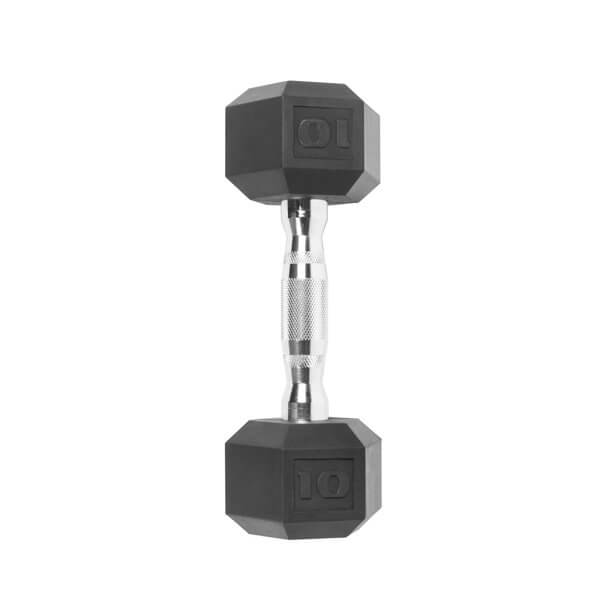 A hex dumbbell