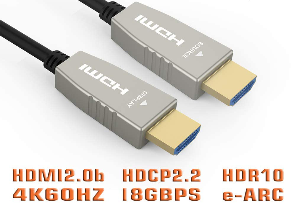 Fiber Optic HDMI Cable deliver significantly higher throughput