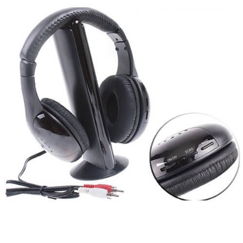 Headphones with built-in mic