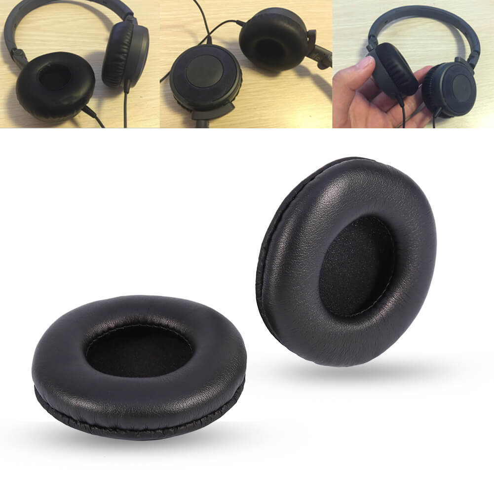 Headphones with leather ear cups