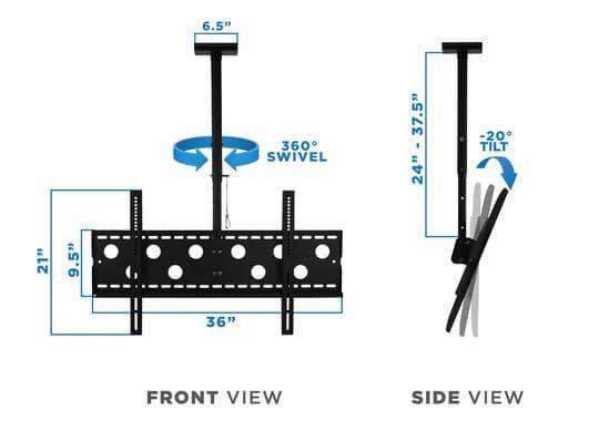 Mount-It! MI-501L Ceiling TV - tilt and swivel