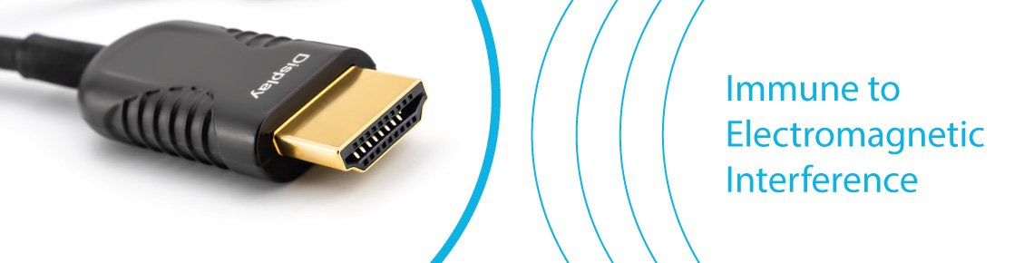 Optic fiber HDMI cables cannot be affected by EMI