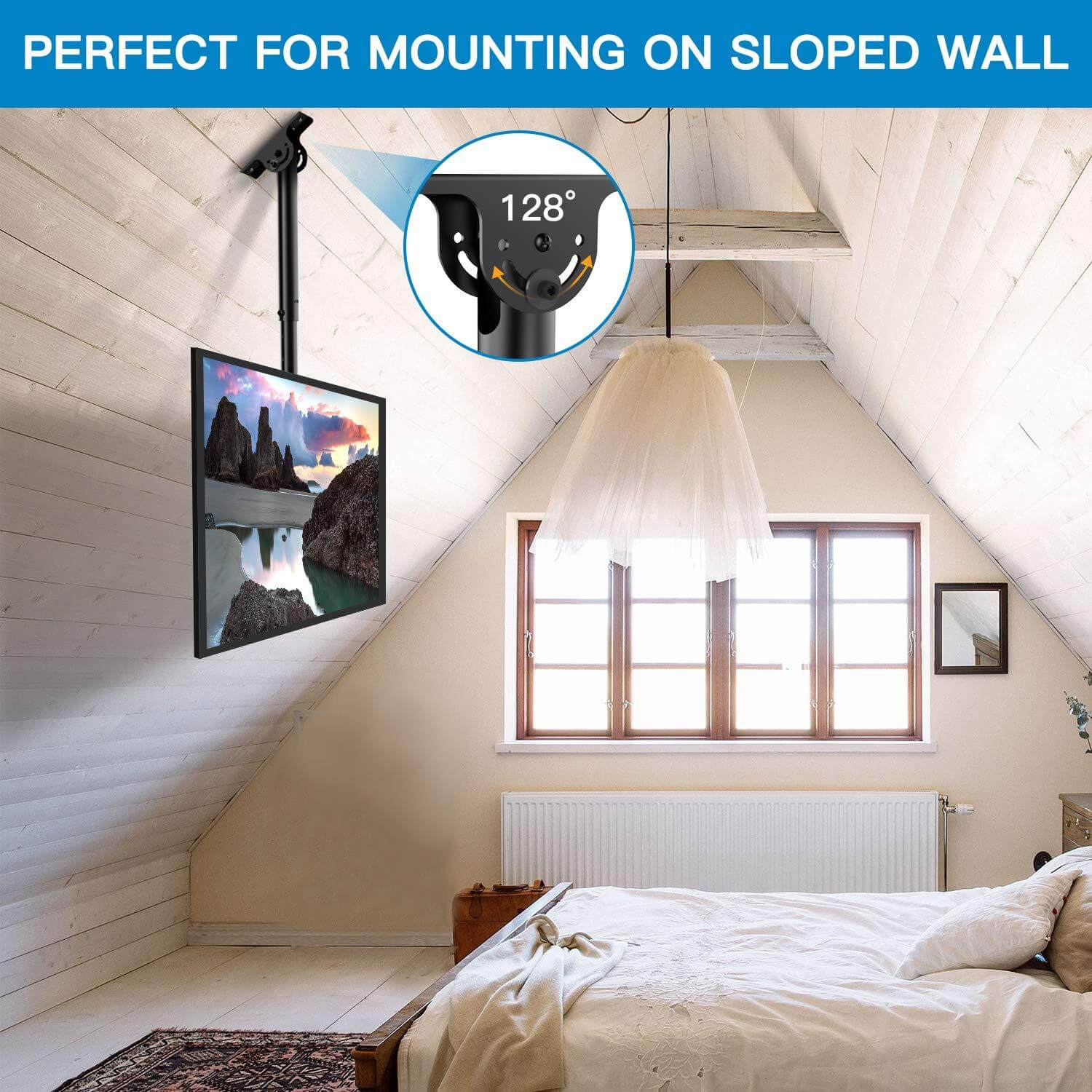PERLESMITH PSCM2 Ceiling TV Mount fits any decor