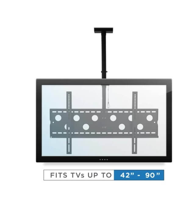 Screen sizes fitting Ceiling TV Mount