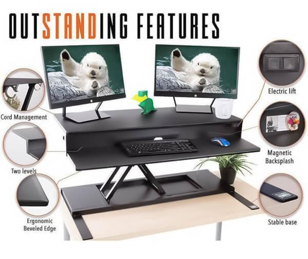 Standing desk converters -Outstanding features