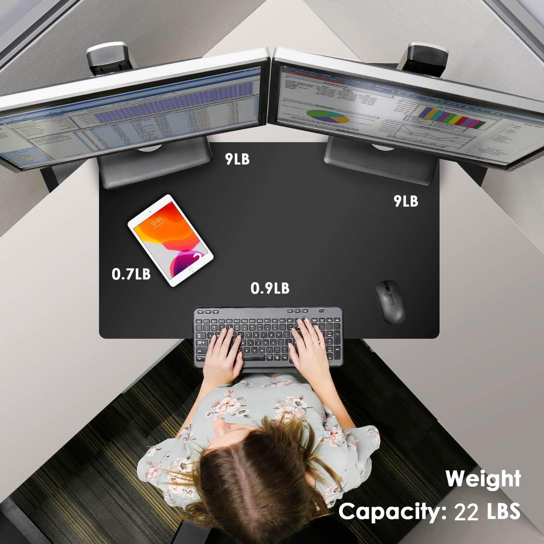 Standing desk converters -Weight capacity-