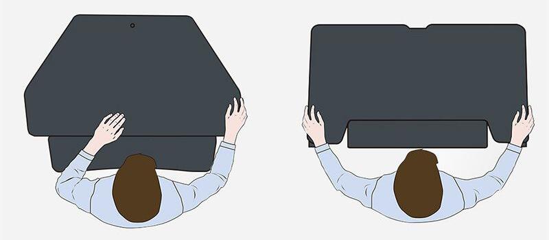 Standing desk converters - design